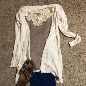 Cute cream cardigan